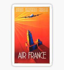 Vintage Travel Poster – Air France Sticker