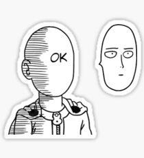 One Punch Man Saitama ok. Sticker