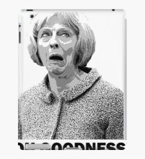 Theresa May Swearing - Oh Goodness! (Fields of Wheat) iPad Case/Skin