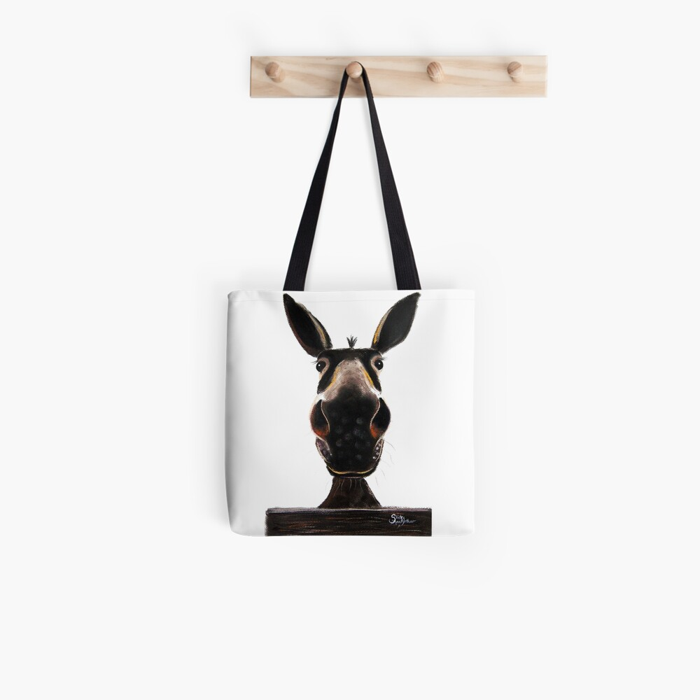 HAPPY DONKEY ' DEIRDRE DONKEY' BY SHIRLEY MACARTHUR Tote Bag