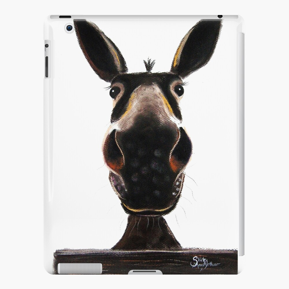 HAPPY DONKEY ' DEIRDRE DONKEY' BY SHIRLEY MACARTHUR iPad Case & Skin