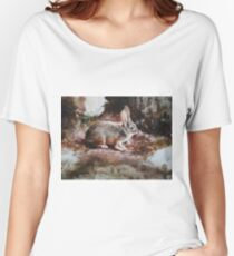 Hare - Original Oil Painting Women's Relaxed Fit T-Shirt