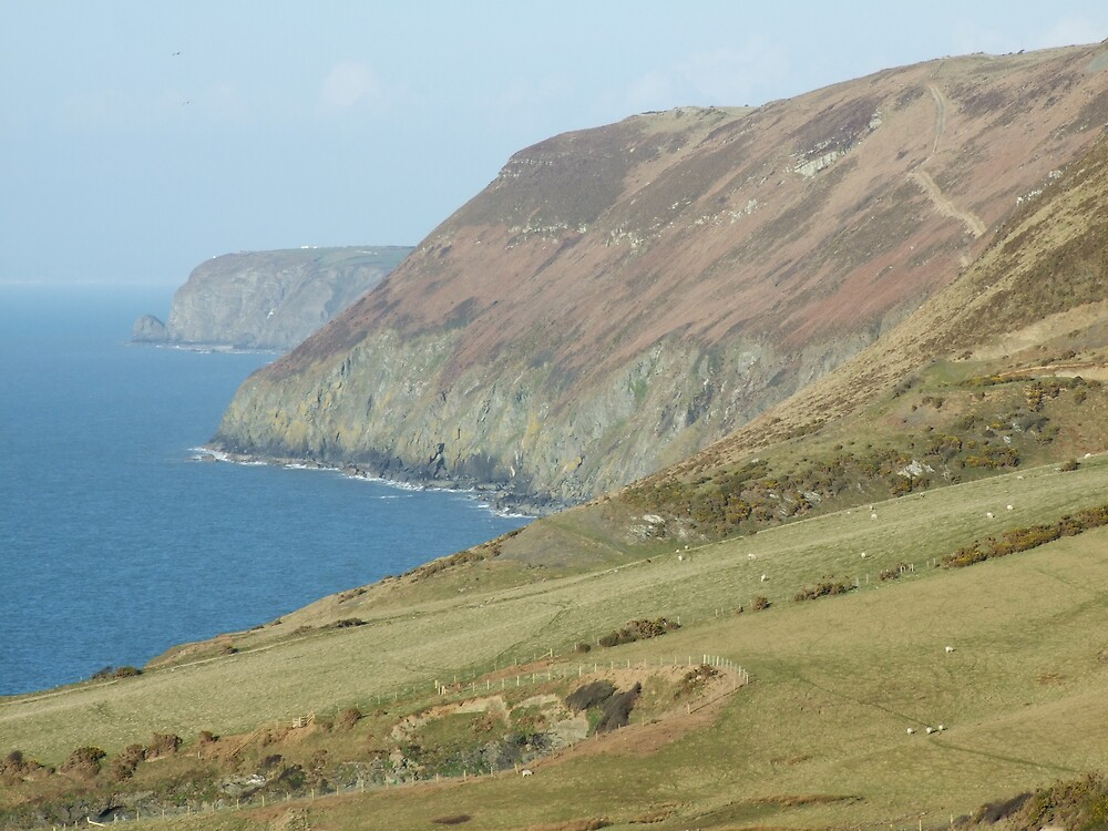 llangronog cliffs by roberto underhill