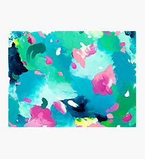 Bliss - abstract acrylic painting Photographic Print