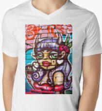 Street Art Angel Men's V-Neck T-Shirt