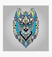 Tribal ethnic wolf Photographic Print
