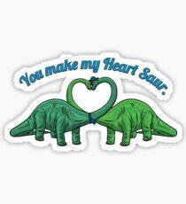 Heart Saur Sticker