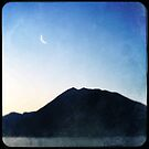 Hipsta Moon Over Lake Como by Mary Ann Reilly