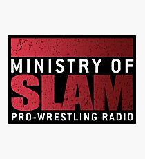 Ministry Of Slam Logo Gear Photographic Print
