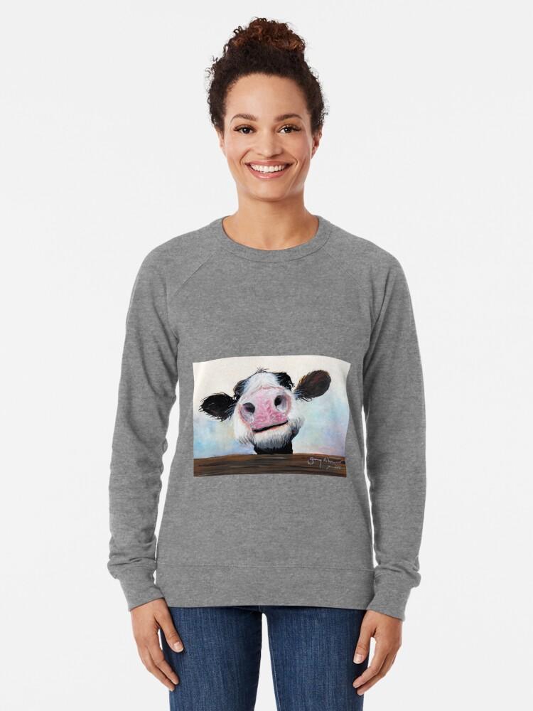 Alternative Ansicht von NOSY COW 'HE! WIE GEHT ES? VON SHIRLEY MACARTHUR Leichter Pullover