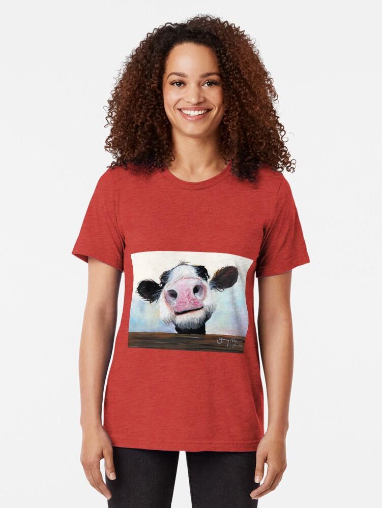 Alternative Ansicht von NOSY COW 'HE! WIE GEHT ES? VON SHIRLEY MACARTHUR Vintage T-Shirt