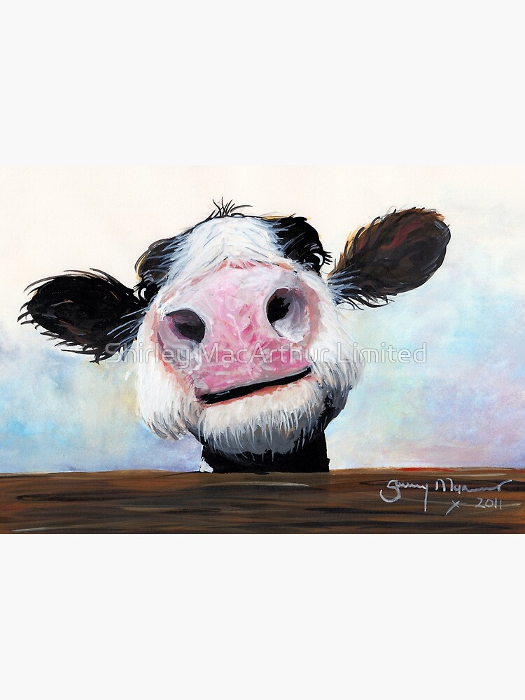 NOSEY COW 'HEY! HOW'S IT GOIN'?' BY SHIRLEY MACARTHUR by ShirleyMacA