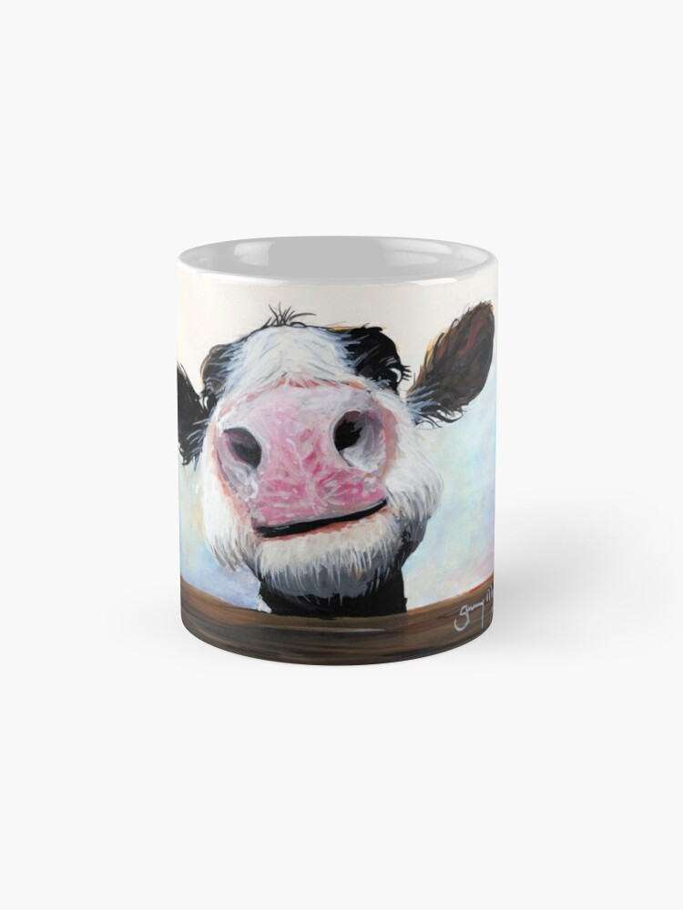 Alternate view of NOSEY COW 'HEY! HOW'S IT GOIN'?' BY SHIRLEY MACARTHUR Mug