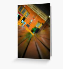 Downtown Train Greeting Card