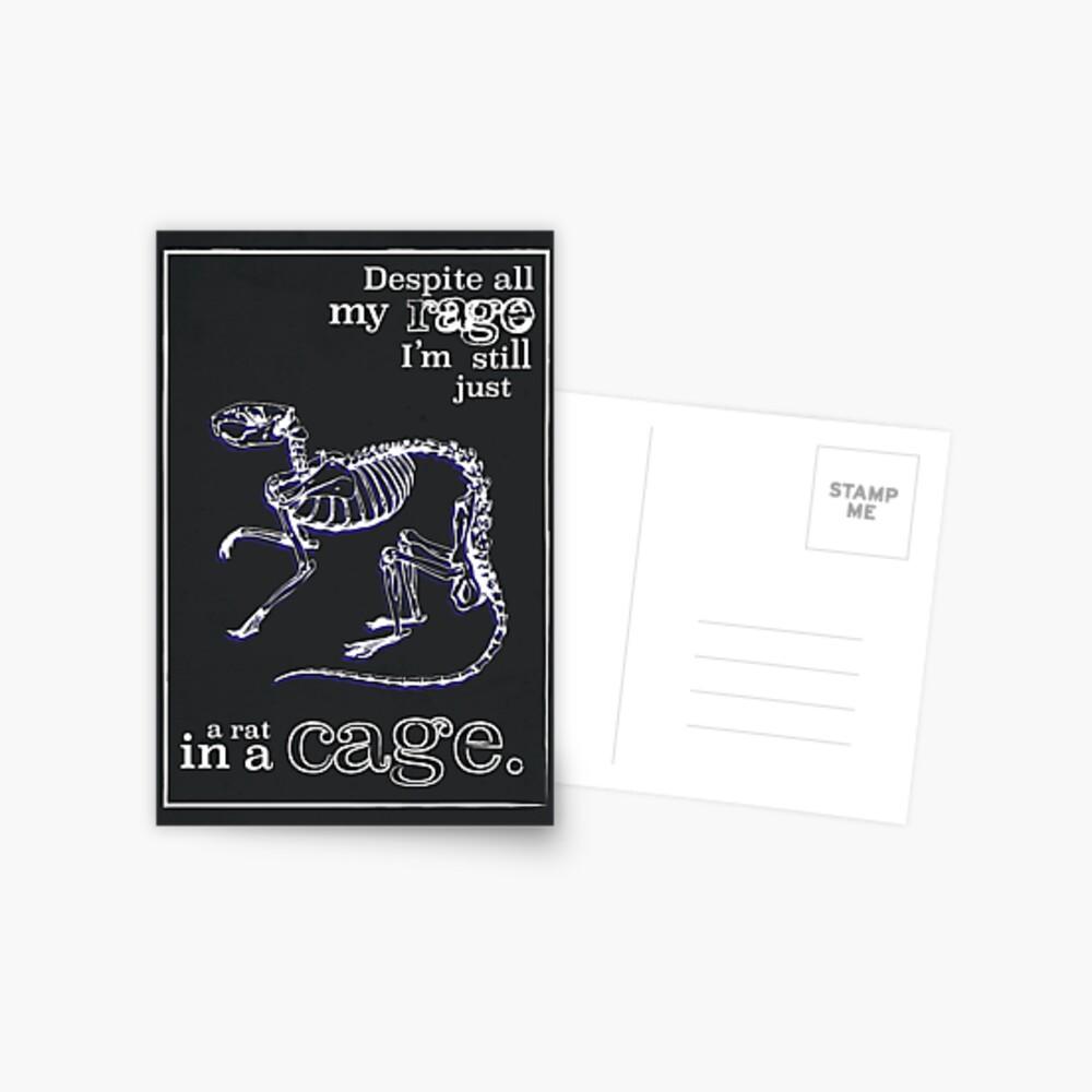 inspirierende Zitate - Ratte in einem Käfig - die überwältigenden Kürbisse Postkarte