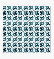 Pattern box Blue Photographic Print