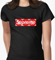 lv supreme Womens Fitted T-Shirt