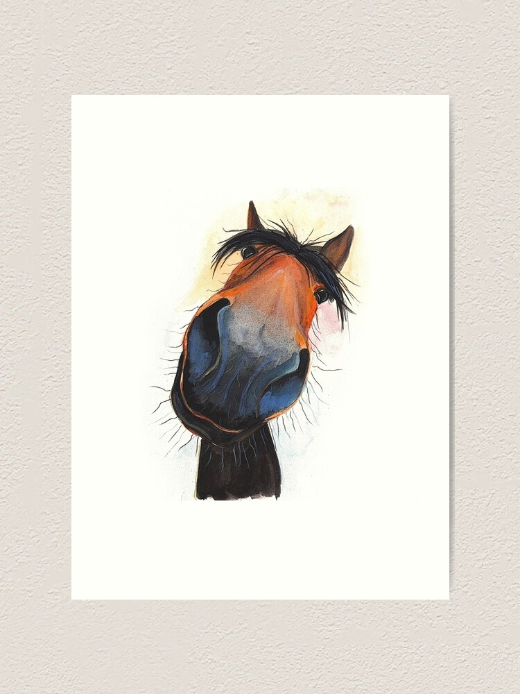 Alternate view of HORSE PRiNT 'HAPPY DAVE' BY SHIRLEY MACARTHUR Art Print