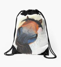 HORSE PRiNT 'HAPPY DAVE' BY SHIRLEY MACARTHUR Drawstring Bag