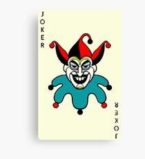 Joker playing card Canvas Print