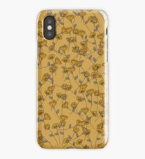 Yellow Floral Print iPhone Case/Skin