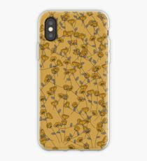 Yellow Floral Print iPhone Case