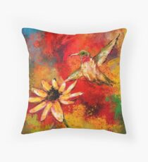 Hummingbird Energy Throw Pillow