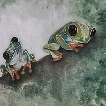 Tree Frogs by cbfineartstudio
