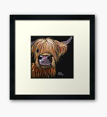 SCOTTISH HAIRY HIGHLAND COW 'HENRY' By Shirley MacArthur Framed Print