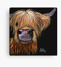 SCOTTISH HAIRY HIGHLAND COW 'HENRY' By Shirley MacArthur Canvas Print