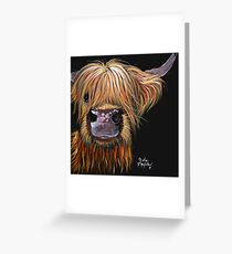 SCOTTISH HAIRY HIGHLAND COW 'HENRY' By Shirley MacArthur Greeting Card