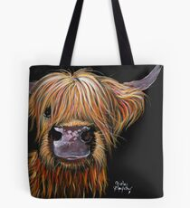 SCOTTISH HAIRY HIGHLAND COW 'HENRY' By Shirley MacArthur Tote Bag
