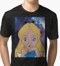 Alice in Wonderland doing a Bump Tri-blend T-Shirt