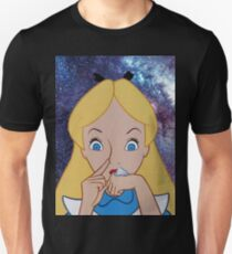 Alice in Wonderland doing a Bump Unisex T-Shirt
