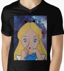 Alice in Wonderland doing a Bump Men's V-Neck T-Shirt