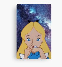 Alice in Wonderland doing a Bump Canvas Print