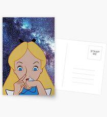 Alice in Wonderland doing a Bump Postcards