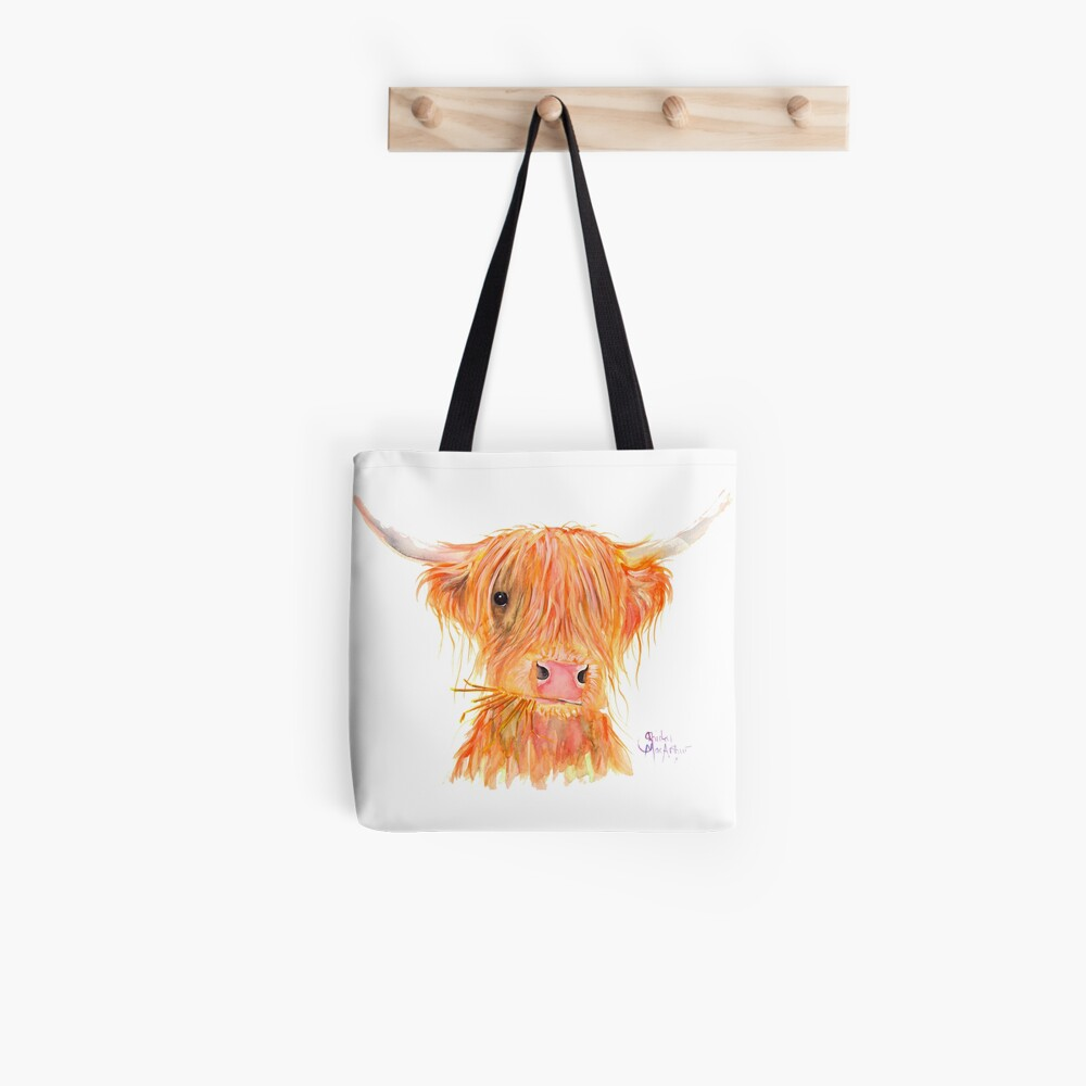 SCOTTISH HIGHLAND COW 'FERGUS' By Shirley MacArthur Tote Bag