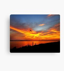 When I Admire the Wonder of a Sunset My Soul Expands in Worship of the Creator Canvas Print