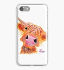 Highland Cow 'NESSIE' from Original Painting by Shirley MacArthur iPhone Case/Skin