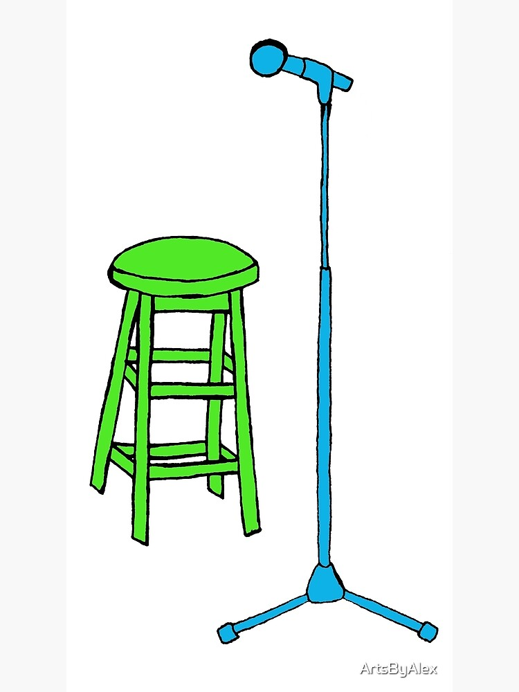 Pleasing Stand Up Comedy Stool And Mic Poster Gmtry Best Dining Table And Chair Ideas Images Gmtryco