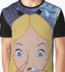 Alice in Wonderland doing a Bump Graphic T-Shirt