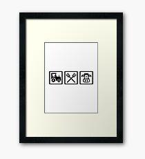 Farmer equipment Framed Print