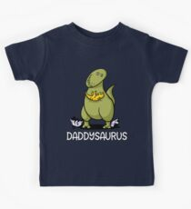 Daddysaurus Future Father Dinosaur Toddler Kids Tee
