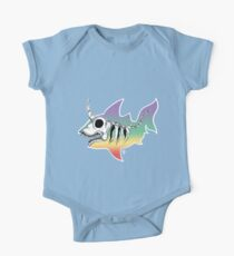 Unicorn Shark Skeleton One Piece - Short Sleeve