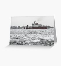 Coast Guard Cutter and Ice Greeting Card