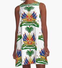 Haiti Coat of Arms A-Line Dress