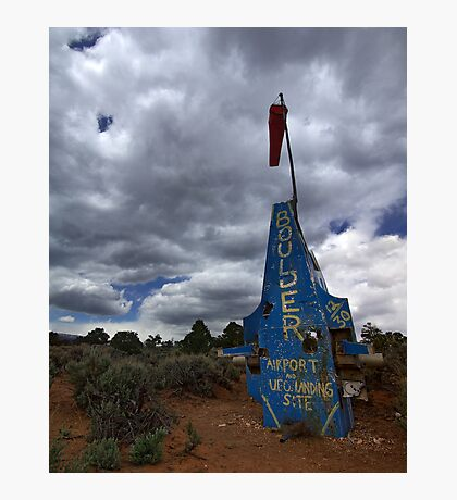 Airport and UFO Landing Site, Boulder, Utah Photographic Print