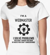 WEBMASTER - NICE DESIGN 2017 Women's Fitted T-Shirt