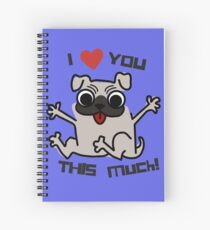 I Heart You Boston Terrier Puppy Hug Spiral Notebook